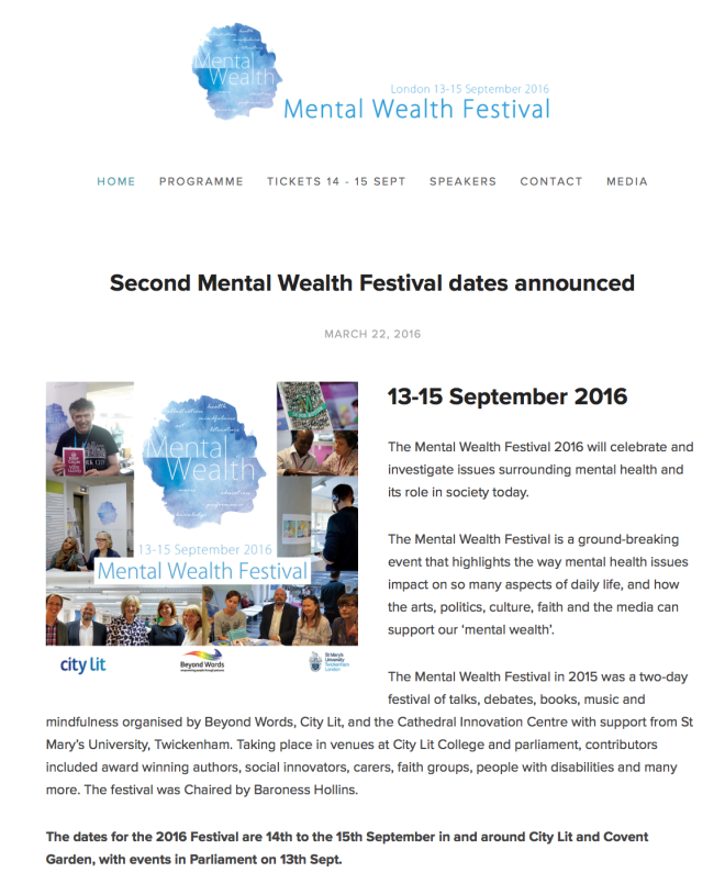 Mental Wealth Festival Announcement Image