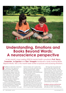 Understanding, Emotions and Books Beyond Words: A Neuroscience Perspective - Page 12 SEND Magazine