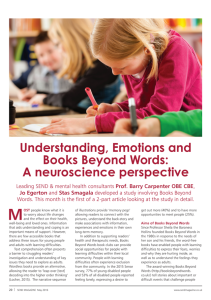 Understanding, Emotions and Books Beyond Words: A Neuroscience Perspective - Page 20 SEND Magazine 2016