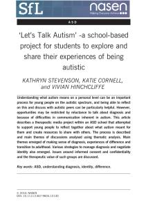 Lets Talk Autism Article Thumbnail