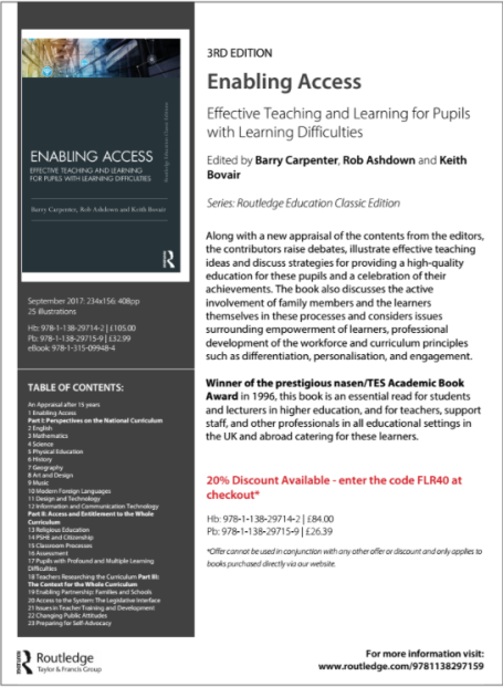 Enabling Access (3rd) Edition Book Thumbnail Leaflet