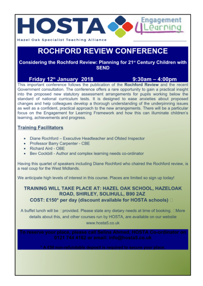 ROCHFORD REVIEW CONFERENCE FLYER