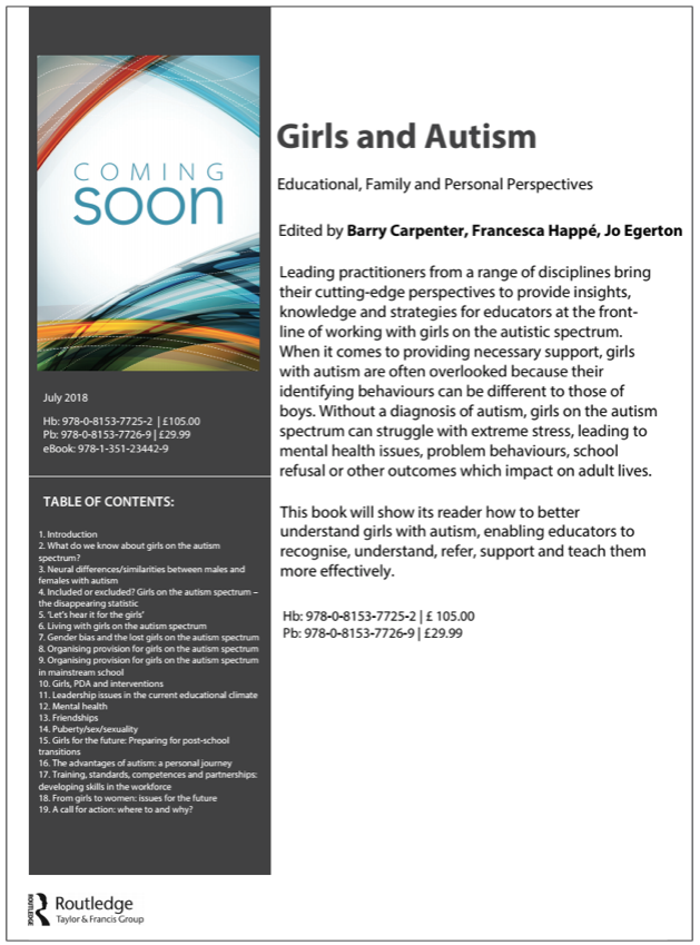 Girls & Autism Upcoming Book Summary - thumbnail