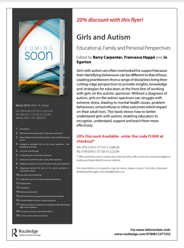 Girls & Autism Book Flyer