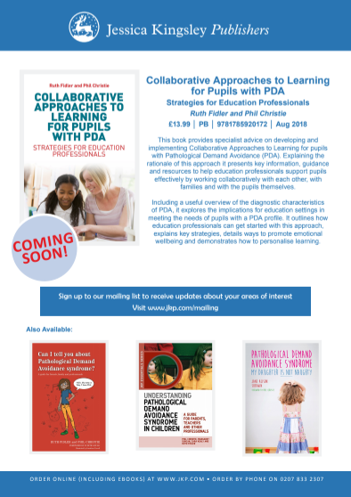 Collaborative Approaches to learning for pupils with PDA book flyer