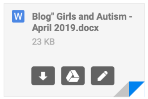 Blog Post Girls & Autism