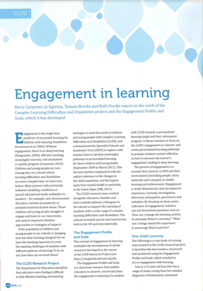 Engagement For Learning