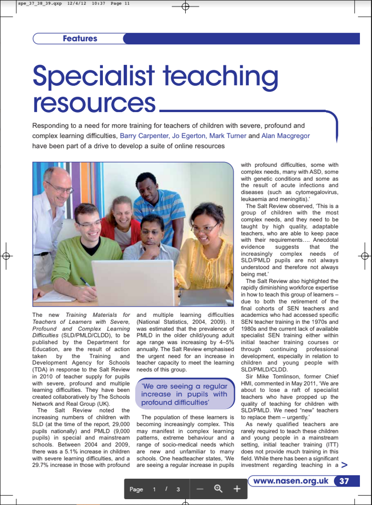 specialist resources cover image for pdf file